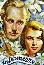 INTERMEZZO Movie POSTER 27x40 Ingrid Bergman Leslie Howard Edna Best Ann E. Todd
