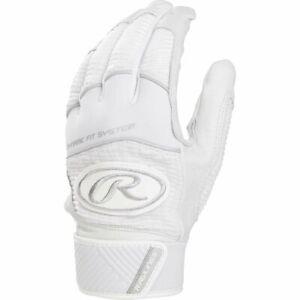 Rawlings Workhorse Batting Gloves Pair WH950BG - White - M