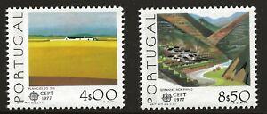 Portugal Scott #1332-33, Singles 1977 Complete Set FVF MNH