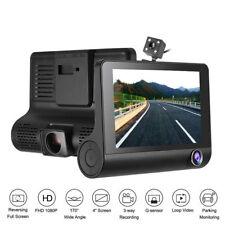 Vídeo Camara 4 '' 1080P HD para Vehículo con 3 lentes y G-Sensor Retrovisora