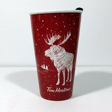 Tim Hortons 2018 Moose Ceramic Coffee Mug Travel 6''