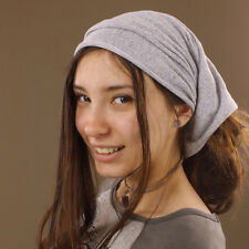 Grey Stretch Tube Headband Hair Band Wrap Durag Dreadlocks Extra Wide