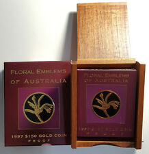 Australia 1997 Gold $150 Floral Emblems Kangaroo Paw-  Plush Wooden NO COIN