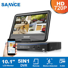 """SANNCE 1080P HDMI 4CH DVR with 10.1""""LCD Rotable Monitor Security camera System"""