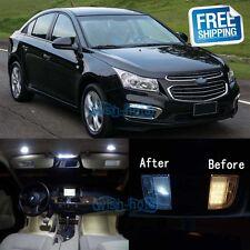 White LED Lights Interior Lighting Package Kit For 2011-2015 Chevrolet Cruze