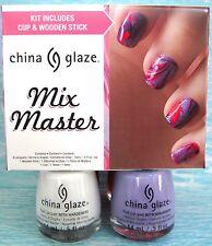 CHINA GLAZE MIX MASTER 4-pc Swirls Nail Polish Set~Snow Tart-y Coconut Rose *NIB