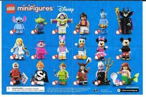 LEGO - DISNEY SERIES 1 Minifigures - 71012 - New & sealed choose / pick