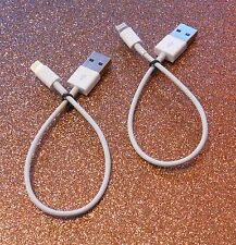2X - 8 Pin SHORT Cable fits iPhone 5/6 Lightning - OEM Style - Free Shipping
