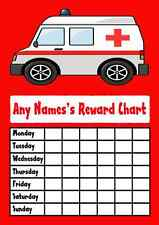 Ambulance Star Sticker Reward Chart