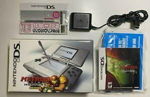 Nintendo DS Original Launch Edition (2004) Used CIB + Metroid + Bonus Accessory