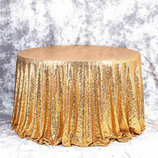 Sparkly Gold Sequin Cloth Fabric Tablecloth For Event Table Background 100CM