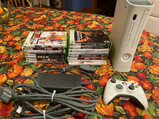 Microsoft Xbox 360 Pro 20Gb Console Bundle- White - with controller & 15 games