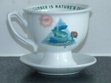 Hendrick's Gin Collectable Cup & Saucer with Cucumber Quotation Brand New