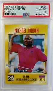 1997 SI for Kids April Fools Michael Jordan Tiger Woods #571, Low pop, PSA 8