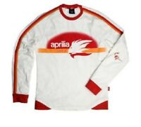 Genuine Aprilia Racing Collection Tee White Long Sleeve T-Shirt New