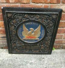 More details for antique original phoenix wall plaque sign - plaster