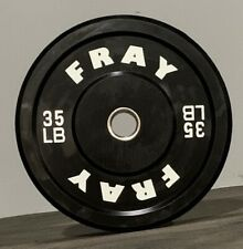 Fray Fitness Barbell Plates Pair 35 LB Rubber Bumper Plates Brand New In The Box