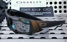 New Oakley 12-856 GASCAN Sunglasses Matte Black w/Black Iridium Polarized