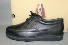 Men's Hush Puppies Mall Walker Size 13 Wide Black Leather tie casual shoe