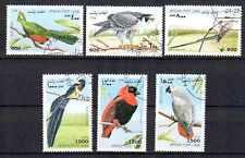 Oiseaux Afghanistan (1) série complète de 6 timbres oblitérés
