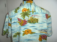 vintage Hawaii Hemd hawaiihemd Viskose surfer oldschool shirt 90s surf Gr. L