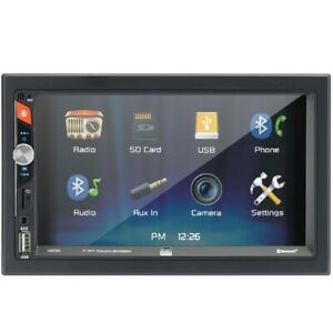 """Dual Dm720 7"""" Lcd Mechless Double Din Bt Usb/Micro Sd Backup Cam Input"""
