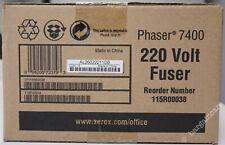 More details for xerox phaser 7400 220 volt fuser unit kit 115r00038 new genuine original [c56]