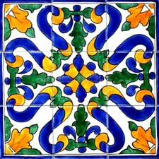 DECORATIVE CERAMIC TILES:MOSAIC PANEL HAND PAINTED KITCHEN BACK SPLASH PATIO ART