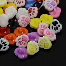 lot 20 boutons patte ours shank multicolor  couture mercerie scrapbooking 14 mm