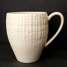 Portmeirion Seascapes Oyster Coffee Mug Embossed Tan Beige Oyster Shell Rim