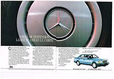 Publicité Advertising 1986 (2 pages) Mercedes Berlines 200-300 E