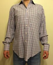 Mens Colorful Tailorbyrd Dress Button Front Shirt Large