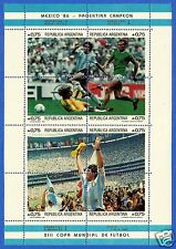 ARGENTINA, WORLD CUP SOCCER, MEXICO 86, FANTASTIC MINIATURE SHEET