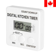 LivingBasics® Magnetic LCD Screen Digital Kitchen Timer Alarm Count Up Down