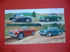 Triumph TR3A TR4A TR250 TR6 British sports car ORIGINAL ART painting