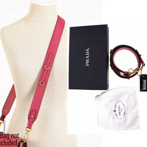 NEW $700 PRADA Pink Saffiano Leather Gold Hardware Removable CROSSBODY BAG STRAP