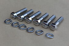 SUZUKI GT750 GT550 GT380 EXHAUST BOLTS STAINLESS STEEL 01204-08357 POLISHED