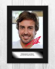Fernando Alonso (2) A4 signed mounted photograph picture poster. Choice of frame