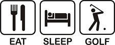 EAT SLEEP GOLF GOLFERS IRON ON T SHIRT TRANSFER LARGE A4 SIZE
