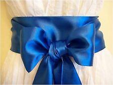 """3.5x100"""" NUOVO Blu Royal Cintura fusciacca in raso Self Cravatta Fiocco per Festa Abito Nuziale"""