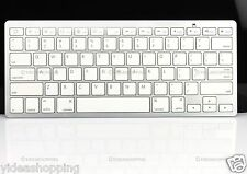 White Bluetooth Wireless Keyboard Keypads Cute for Apple Windows System iPad PC