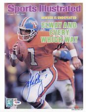 John Elway SIGNED Sports Illustrated Print Broncos ITP PSA/DNA AUTOGRAPHED