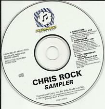 CHRIS ROCK 1997 RARE 3 TRK SAMPLER PROMO DJ CD single