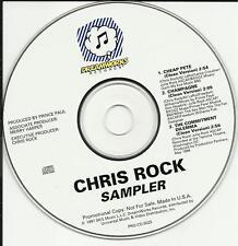 CHRIS ROCK 1997 RARE 3 TRK SAMPLER PROMO DJ CD single