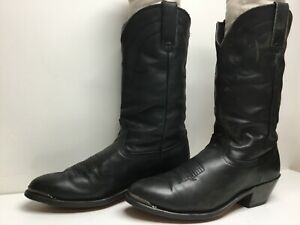 VTG WOMENS UNBRANDED TOE RAND COWBOY GREEN BOOTS SIZE 8 M