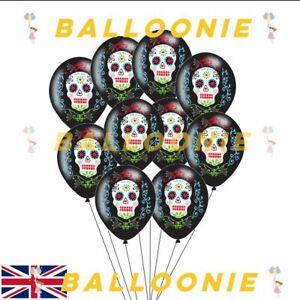 Halloween Day of Dead Coco Balloons Black Party Balloon Decoration Sugar Skull