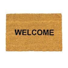 Door Mat Non-Slip PVC Coir, 40 x 60cm - Welcome - Indoor Mats Doormats