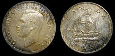 1949 Canada Silver One Dollar Choice Toning King George VI/ Ship