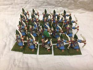 Lot Of 20 Citadel Plastic Elf Archers With Metal Leader