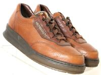 Mephisto Match Brown Pebbled Leather Lace-Up Casual Wedge Oxford Women's US 6